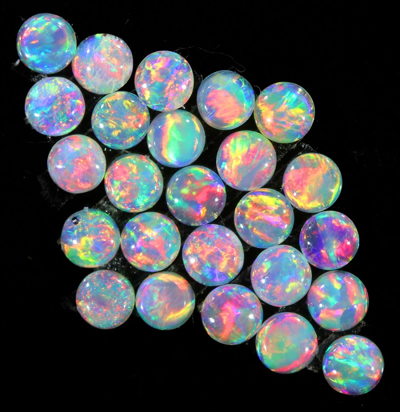 1.52CTS 25 PIECES CALIBRATED OPAL PARCEL GREAT COLOR PLAY- S780