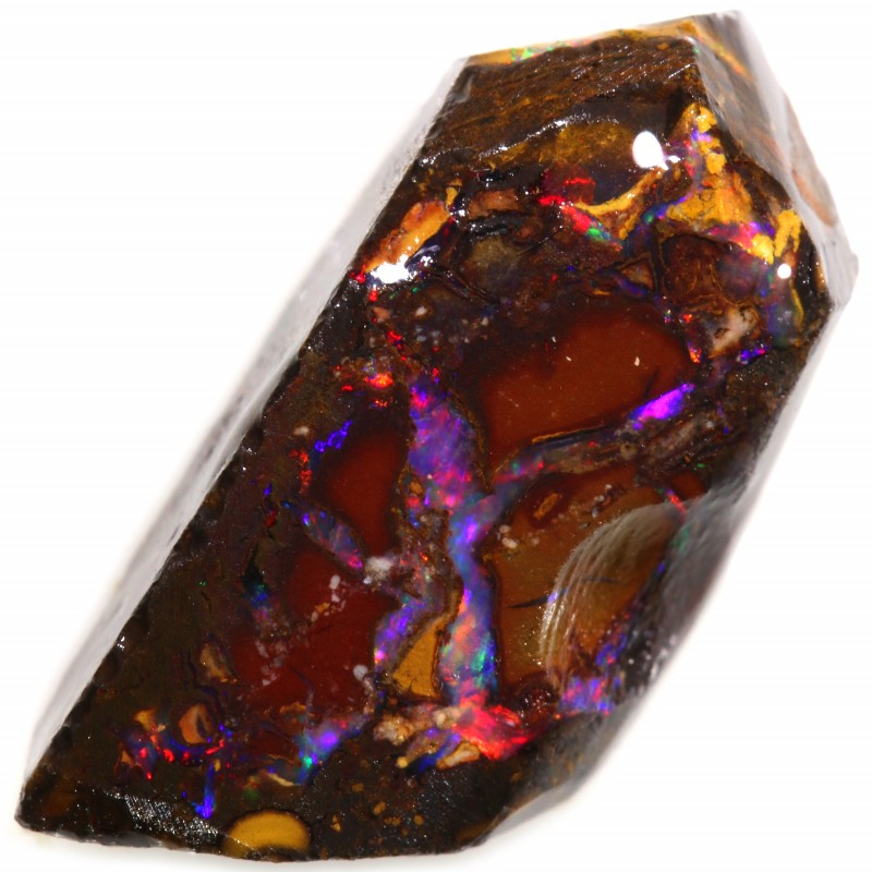 7.05 CTS BOULDER ROUGH OPAL RED FIRE [BY7549]
