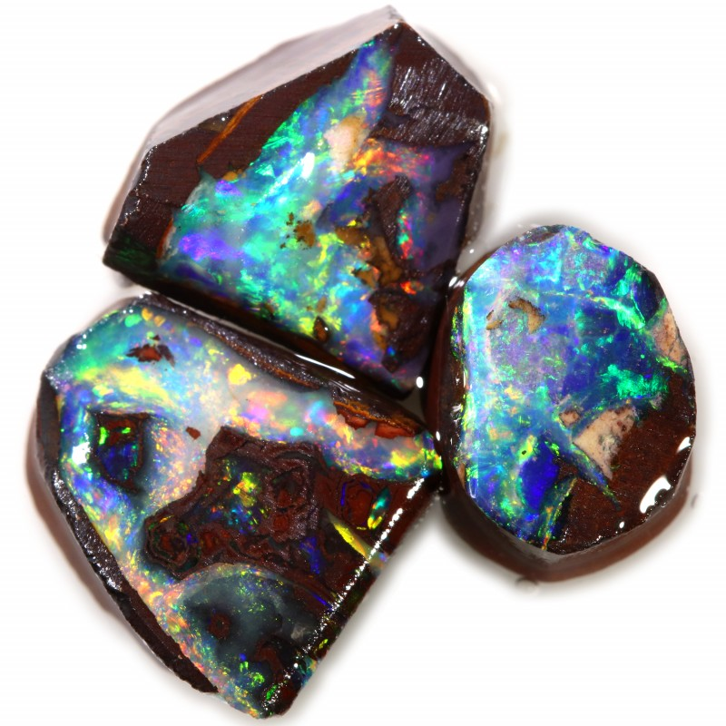 15.90 CTS BOULDER ROUGH OPAL PARCEL RED FIRE [BY7555]