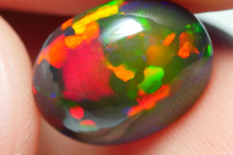 2.65 CRT STUNNING SMOKED PRISM PUZZLE COMPLETE COLOR WELO OPAL-
