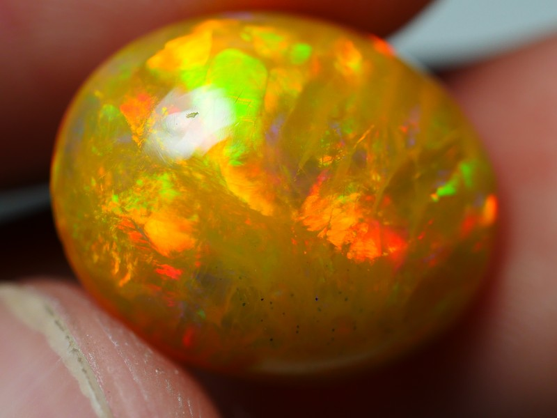 4.45 CRT GORGEOUS BROWN BASE NEON DELUXE FIRE WELO OPAL-