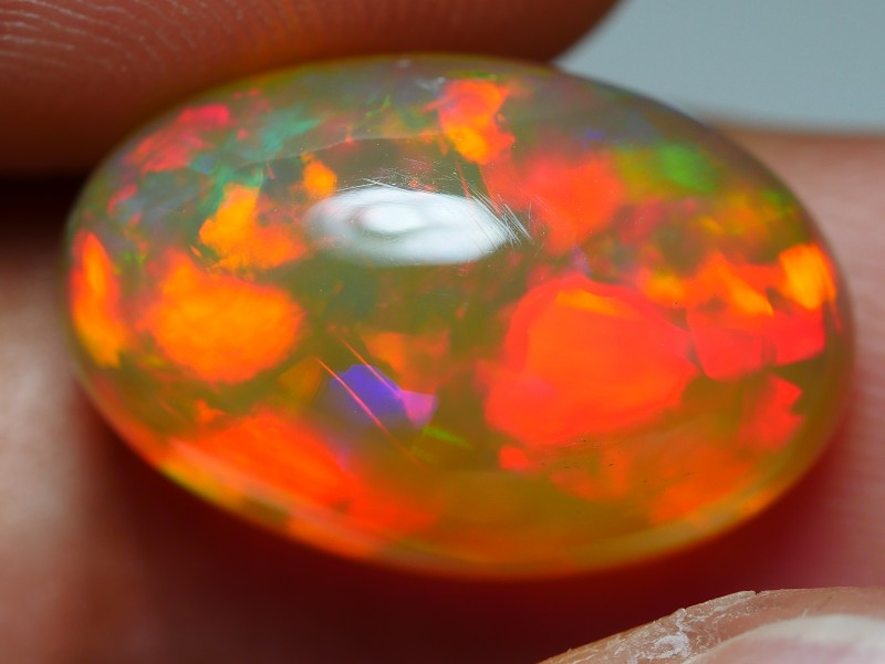 5.75 CRT AMAZING FLAGSTONE NEON BRIGHT DELUXE COLOR WELO OPAL-