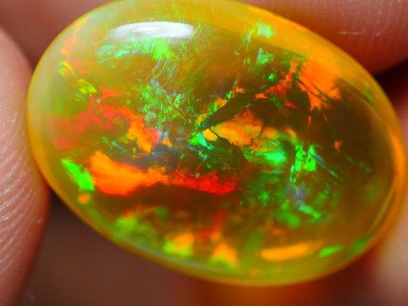 7.20 CRT BROWN CRYSTAL CLEAR PATCHWORK PLAY COLOR WELO OPAL-