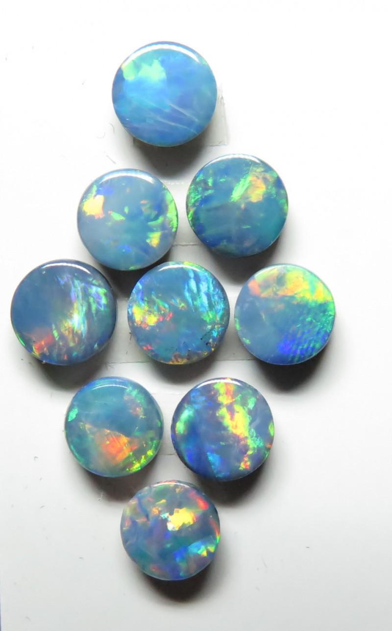 5mm  9 Stone Australian Doublet Opal Parcel