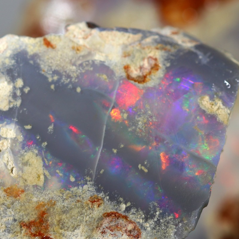 415.00 CTS  COLOURFUL ROUGH PARCEL FROM LIGHTNING RIDGE[BR6626]