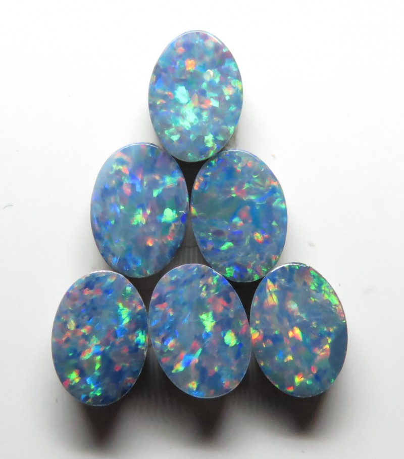 7mm  x 5mm  6 Stone Australian Doublet Opal Parcel