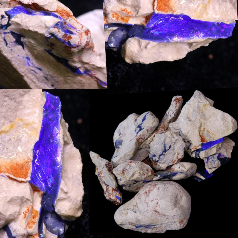 2500.00 CTS GAMBLE  COLOURFUL ROUGH PARCEL FROM LIGHTNING RIDGE[BR6632]
