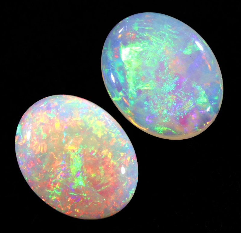 2.30Cts Solid fire opal Coober pedy Pair opals  WS374