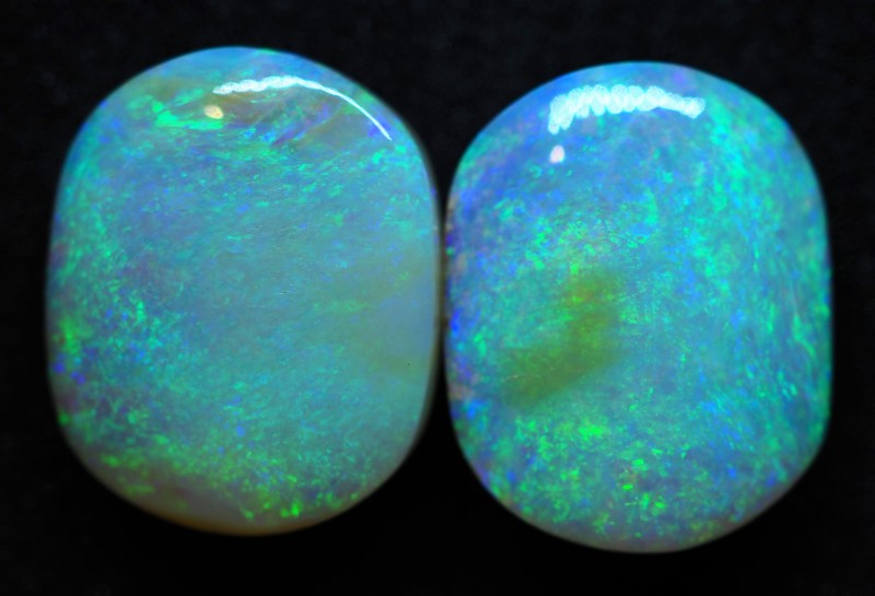 22.20CT VIEW PIPE WOOD REPLACEMENT BOULDER OPAL (Pair)  TT129