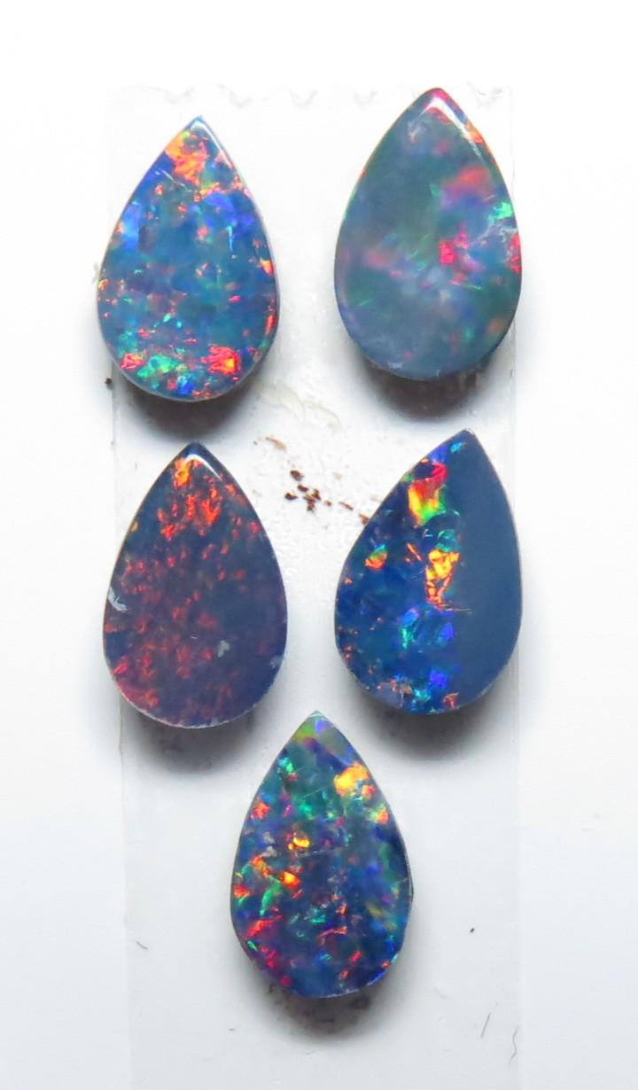 6mm  x 4mm  5 Stone Australian Doublet Opal Parcel