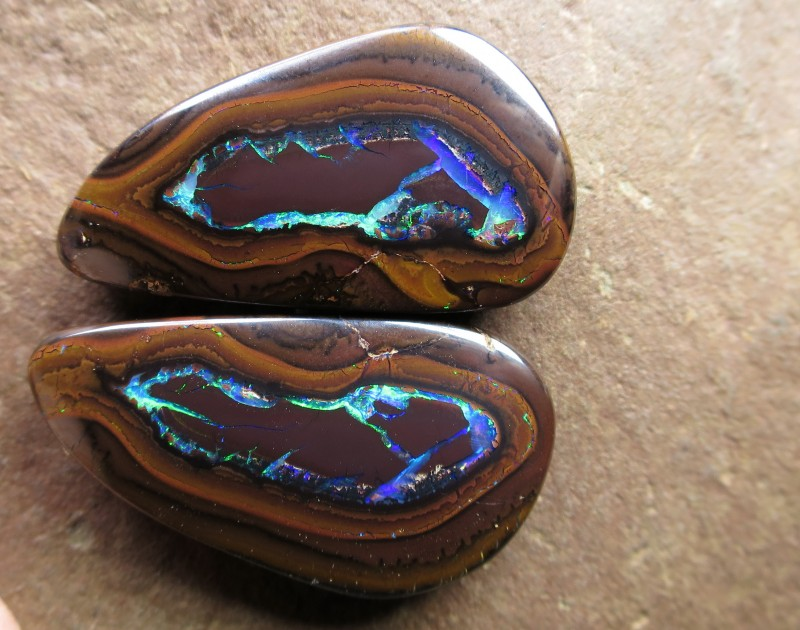 top quality gem nut opal pair.
