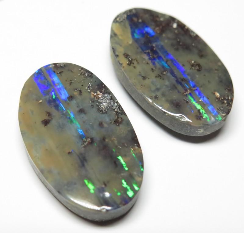 33.16ct Queensland Boulder Opal Pair Stone