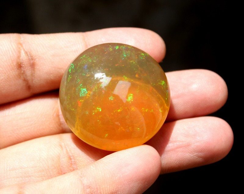 97 Crt Natural Ethiopian Welo Fire Opal Loose Gemstone Cabochon