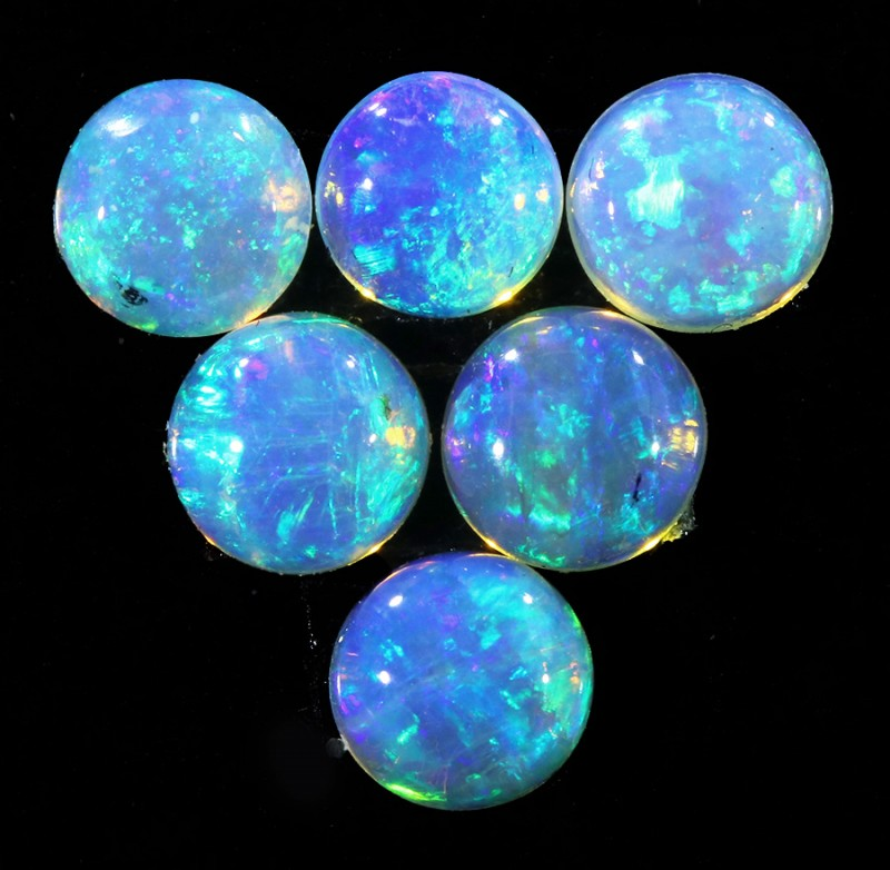 1.45CTS SET 6 STONES PARCEL COOBER PEDY -GREAT COLOR PLAY -S831