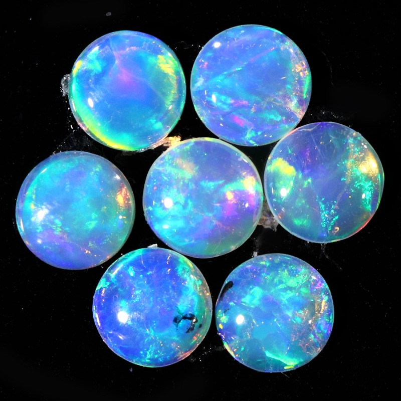 0.33CTS 7 PIECES CALIBRATED OPAL PARCEL GREAT COLOR PLAY- S838