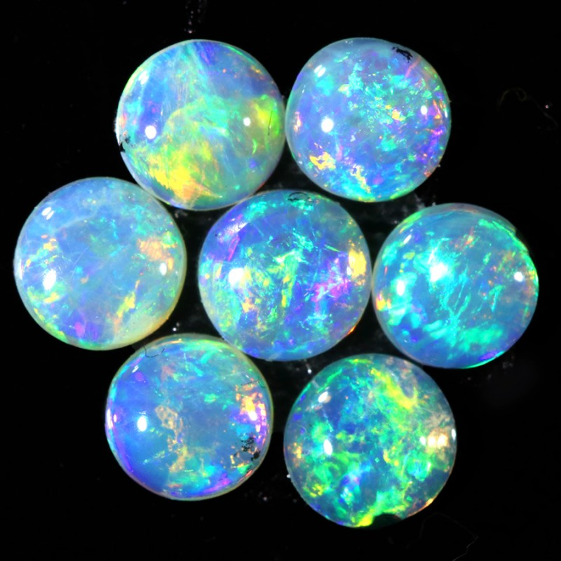 0.99CTS 7 PIECES CALIBRATED OPAL PARCEL GREAT COLOR PLAY- S840