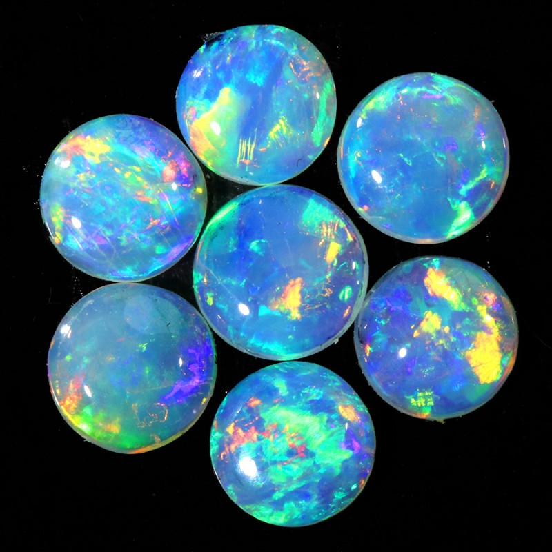 0.97CTS 7 PIECES CALIBRATED OPAL PARCEL GREAT COLOR PLAY- S842