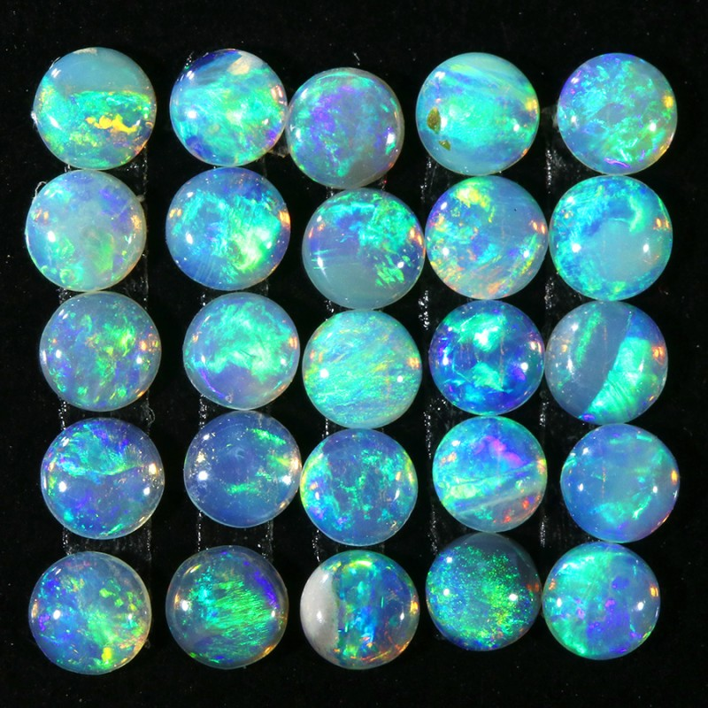 1.50CTS 25 PIECES CALIBRATED OPAL PARCEL GREAT COLOR PLAY- S846