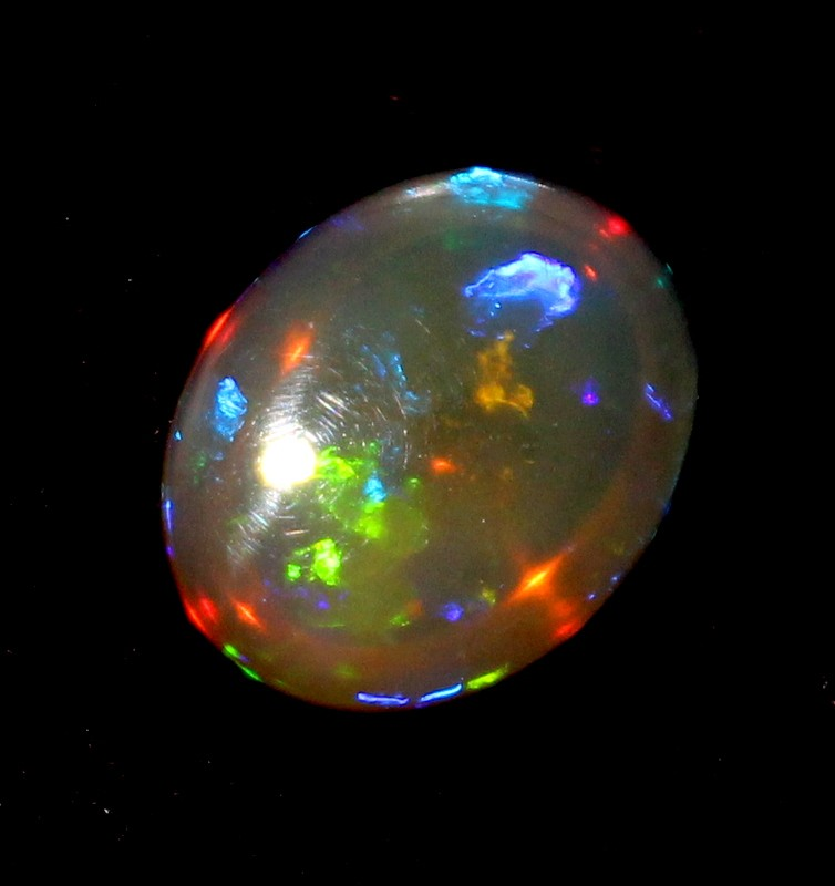 4.50 Crt Natural Welo Fire Ethiopian Smoked Opal Cabochon 1009