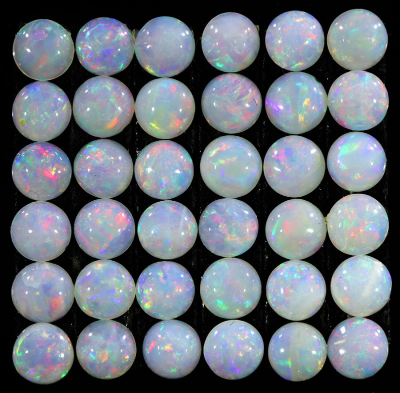 2.89CTS 36 PIECES CALIBRATED OPAL PARCEL GREAT COLOR PLAY- S914