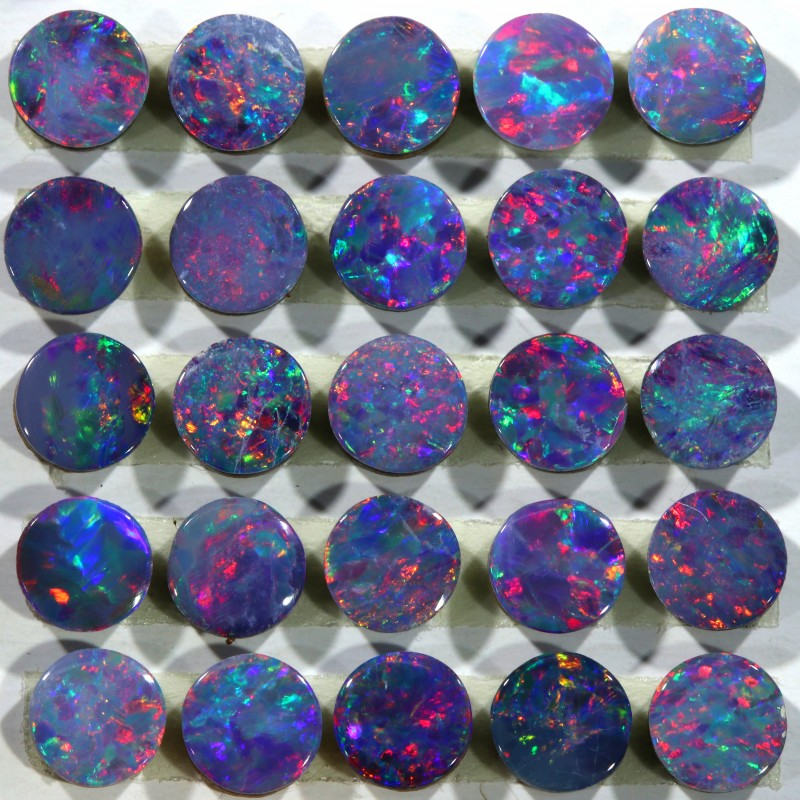5.18 CTS GEM DOUBLETS CALIBRATED FOR ACCENT STONES[S-SAFE311]