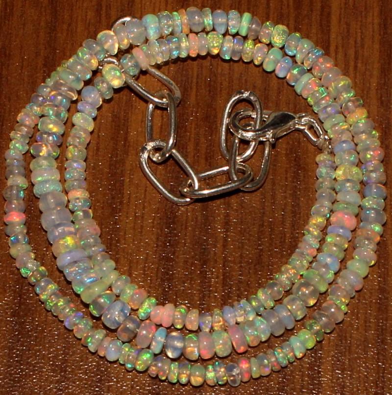 28 Crts Natural Ethiopian Welo Fire Opal Beads  0008