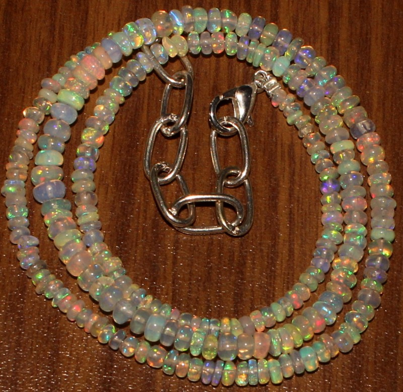 30 Crts Natural Ethiopian Welo Fire Opal Beads  0011