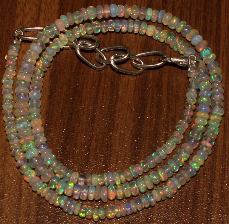 36 Crts Natural Ethiopian Welo Fire Opal Beads  0014