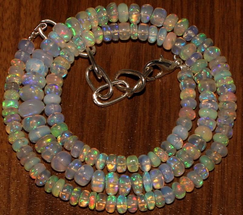 60 Crts Natural Ethiopian Welo Fire Opal Beads  0018
