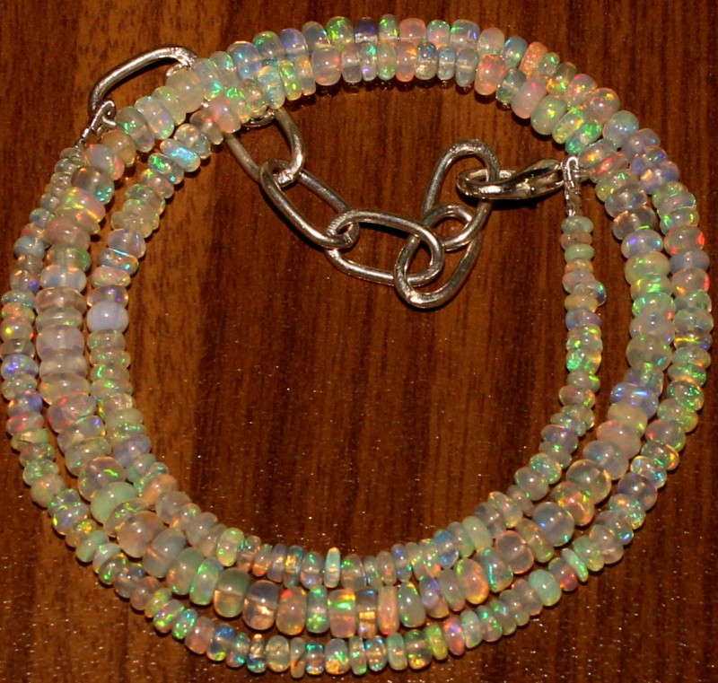 33 Crts Natural Ethiopian Welo Fire Opal Beads  0025