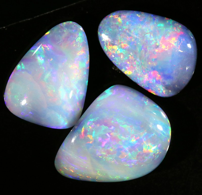 15.62Cts Set 3 Parcel Opal Doublet from Cooper Pedy Opal SCA3005