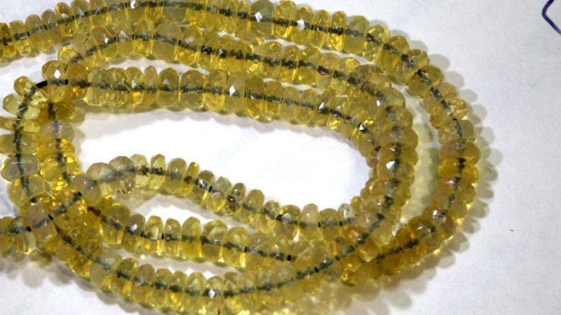 43 CTS CRYSTAL OPAL BEADS FACETED TBO-8645