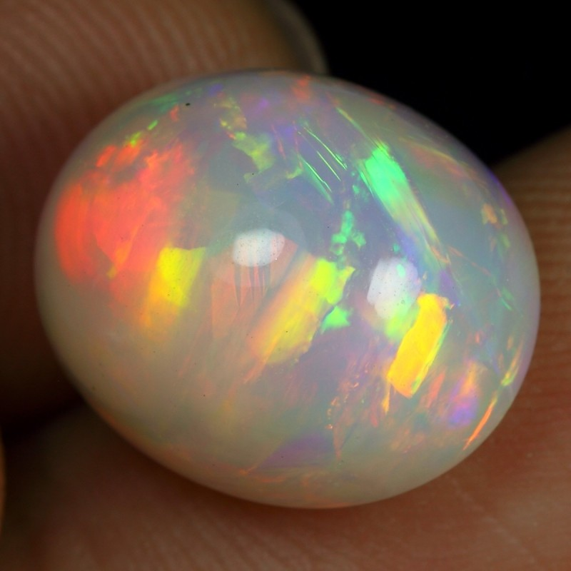 7.00cts Brush Rainbow Fire Ethiopian Opal