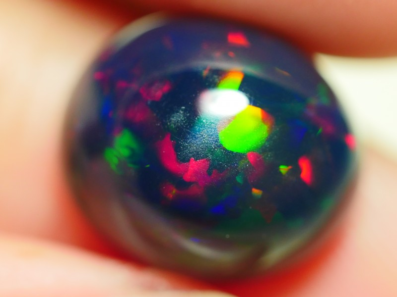5.00 CRT BEAUTY SMOKED FLORAL PATTERN MULTICOLOR WELO OPAL*