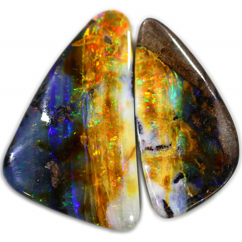 124.25 cts Amazing Golden Boulder opal pair SCA 3007