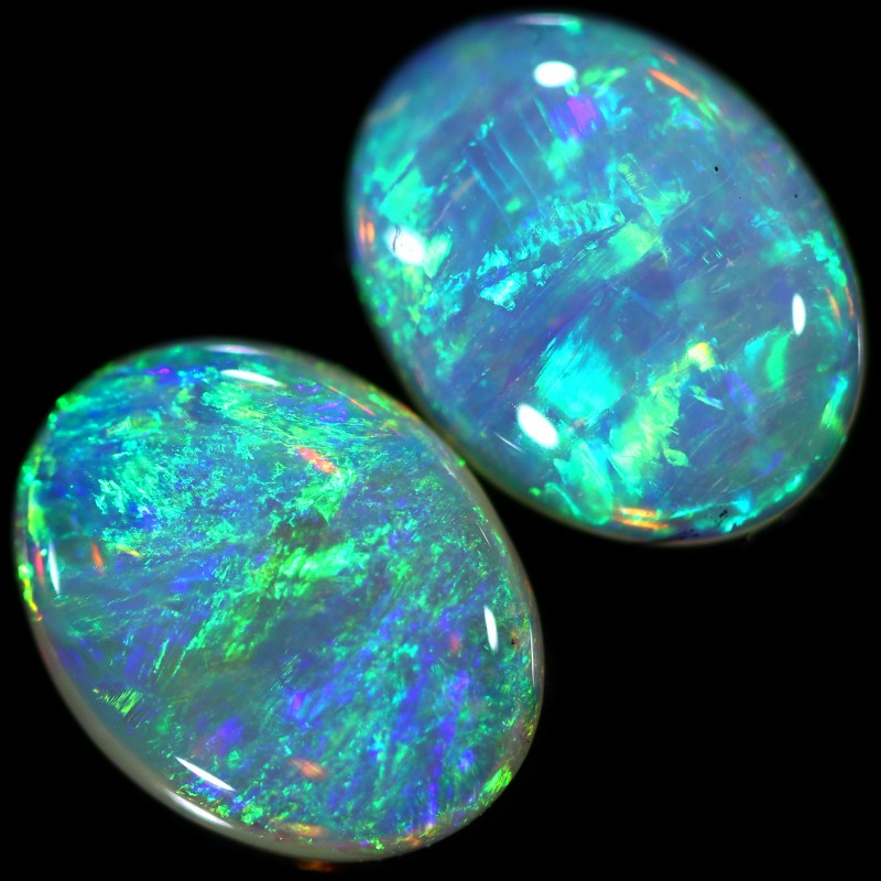 2.04 CTS CRYSTAL OPAL PAIR  [C-SAFE297]