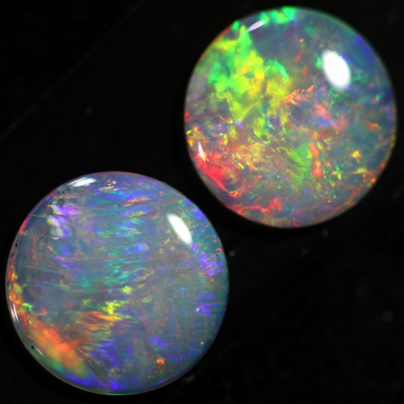 1.00 CTS CRYSTAL OPAL PAIR-CALIBRATED   [C-SAFE318]