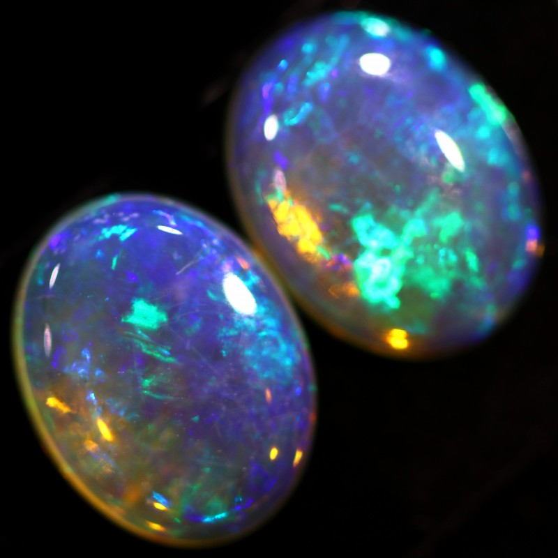 2.10 CTS CRYSTAL OPAL PAIR-CALIBRATED   [C-SAFE320]
