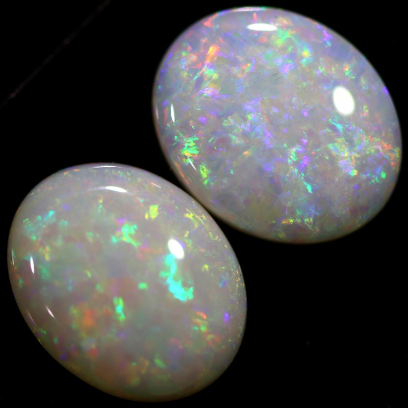 3.88 CTS CRYSTAL OPAL PAIR-CALIBRATED   [C-SAFE324]