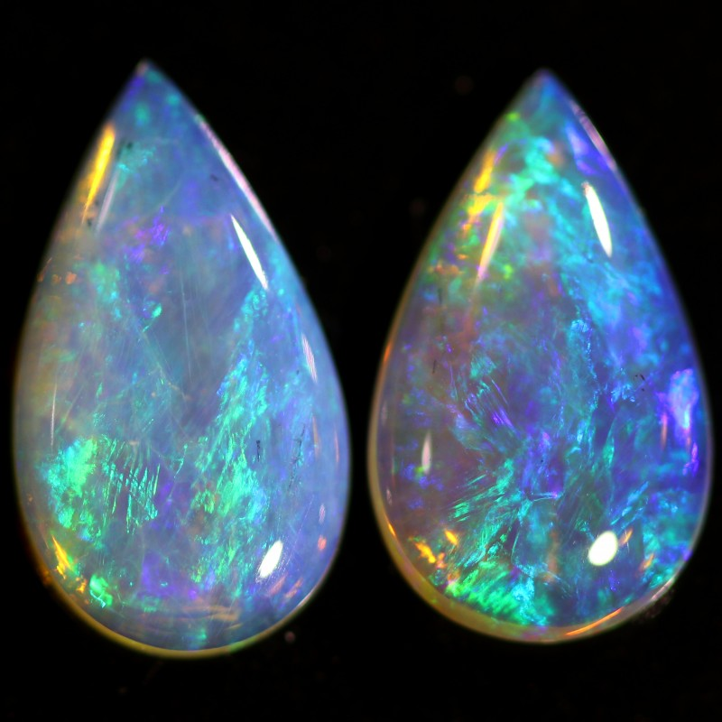 2.44 CTS CRYSTAL OPAL PAIR-CALIBRATED   [C-SAFE334]