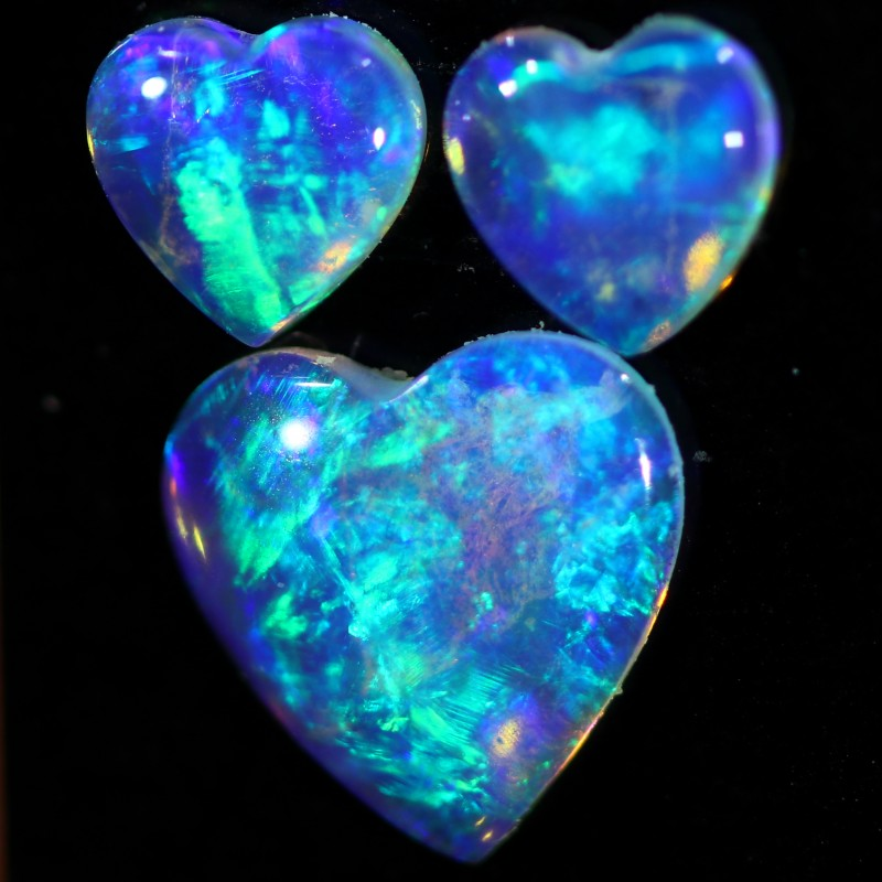 1.11 CTS CRYSTAL OPAL FROM COOBER PEDY SET 3 [C-SAFE365]