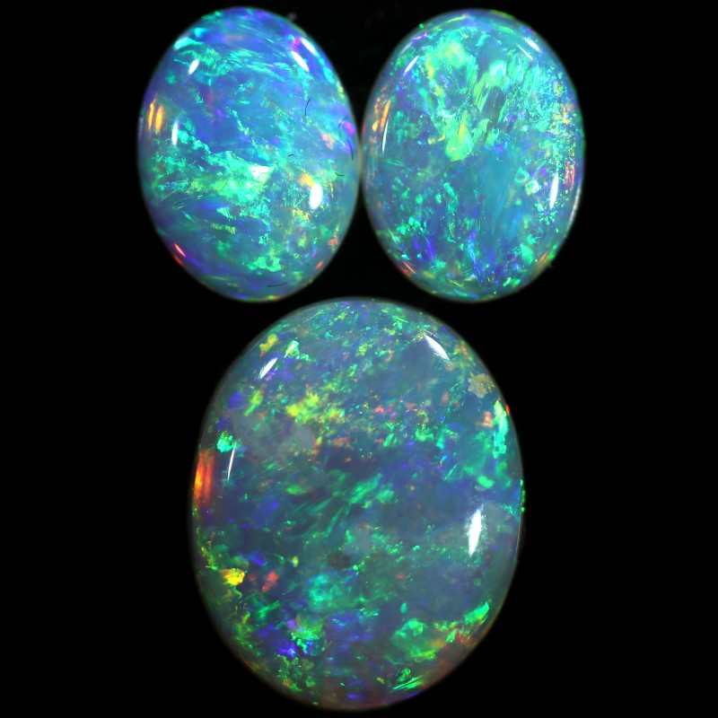3.28 CTS CRYSTAL OPAL FROM COOBER PEDY SET 3 [C-SAFE371]