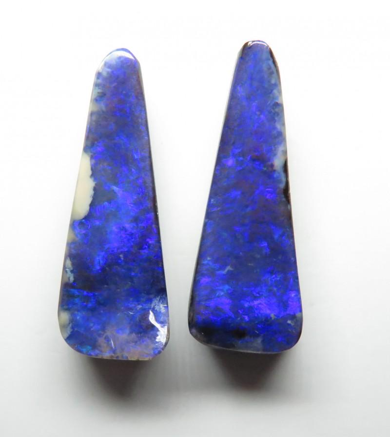 13.50ct Queensland Boulder Opal Split Pair