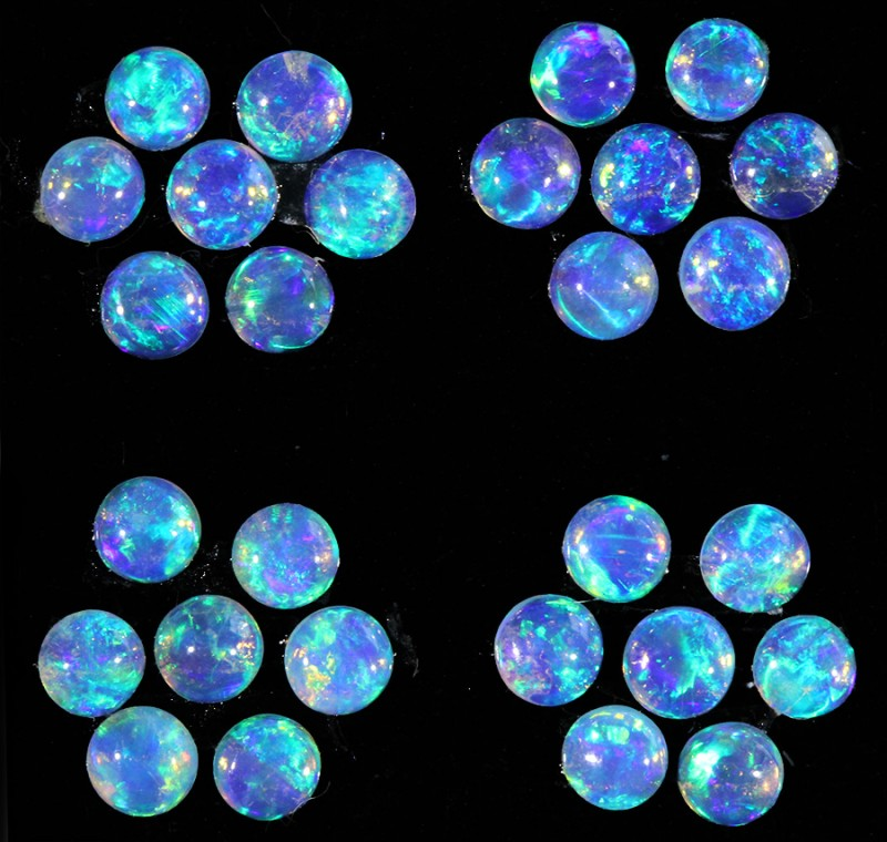 1.23CTS 28 PIECES CALIBRATED OPAL PARCEL GREAT COLOR PLAY- S942