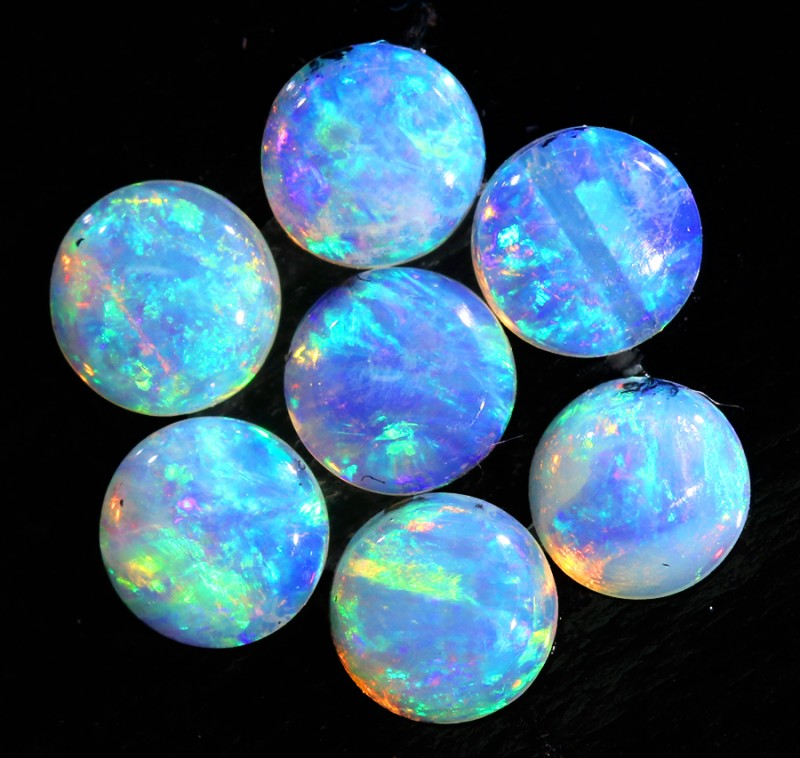 0.98CTS 7 PIECES CALIBRATED OPAL PARCEL GREAT COLOR PLAY- S946