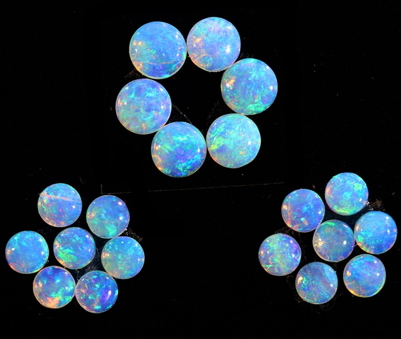 1.40CTS 20 PIECES CALIBRATED OPAL PARCEL GREAT COLOR PLAY- S947
