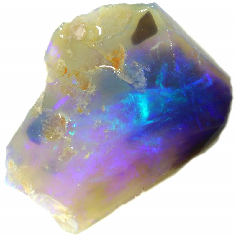 189.40 CTS   COLOURFUL ROUGH PARCEL FROM LIGHTNING RIDGE[BR6686]
