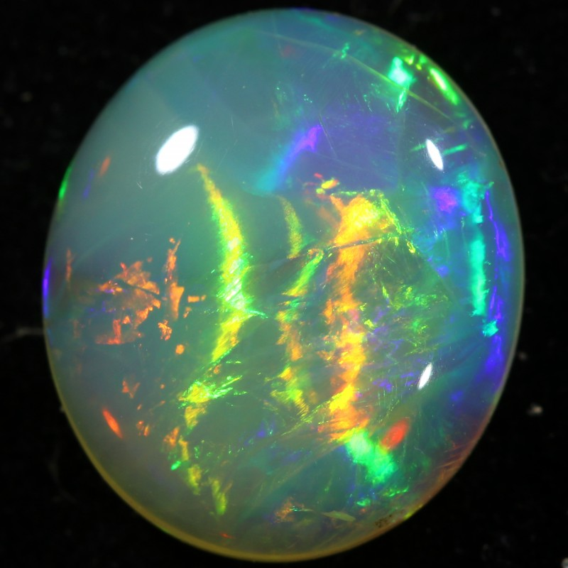 3.01 CTS SOLID  OPAL FROM  LIGHTNING RIDGE -GREAT PATTERN LRO344]
