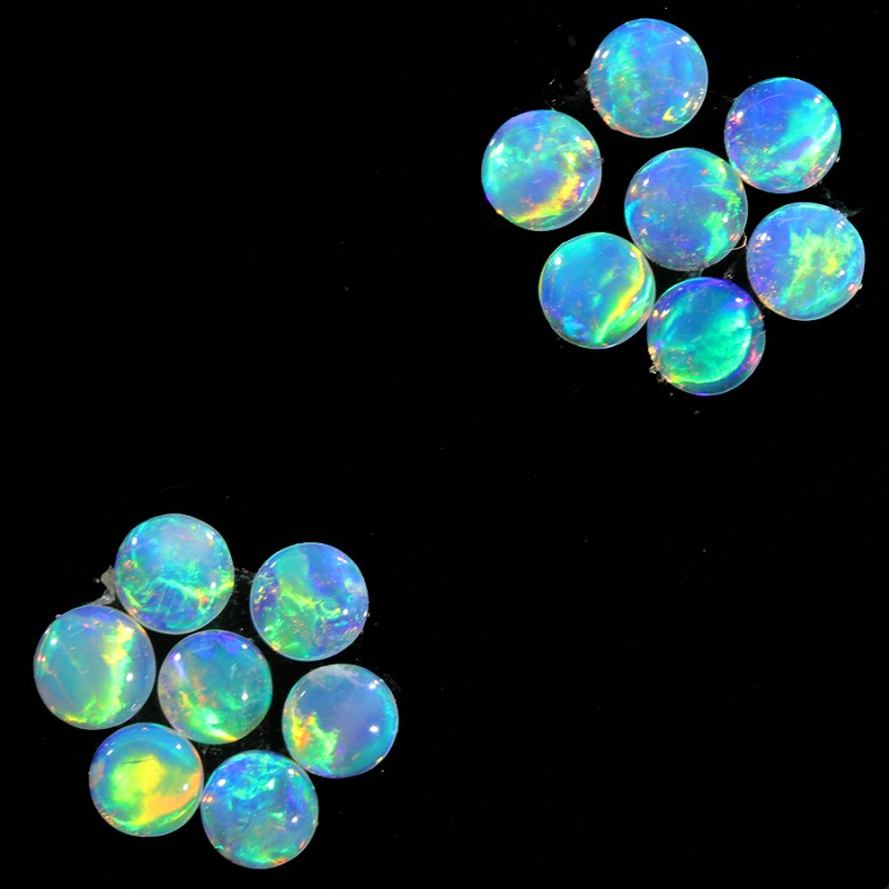 2.8CTS 14 PIECES CALIBRATED OPAL PARCEL GREAT COLOR PLAY- S1005