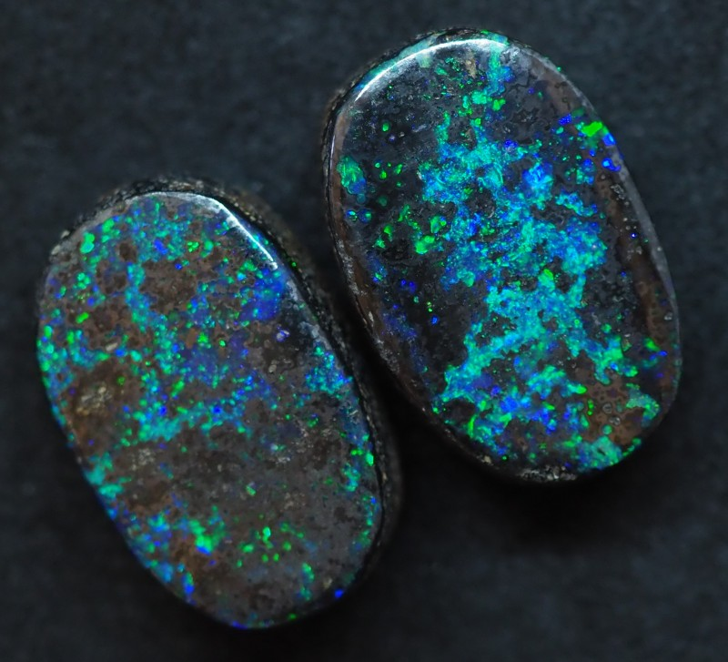 18.35CTS QUEENSLAND  BOULDER OPAL (Pair)   TT397